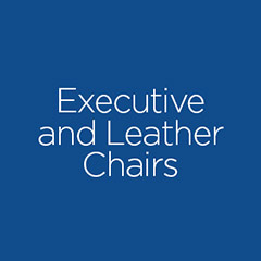 Executive and leather chair